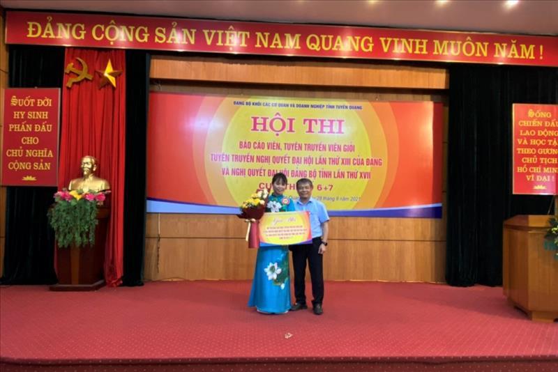 Đảng bộ Công ty Thủy điện Tuyên Quang đạt giải trong Hội thi báo cáo viên, tuyên truyền viên giỏi