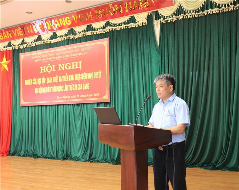 Hội nghị nghiên cứu, học tập, quán triệt, tuyên truyền và triển khai thực hiện Nghị quyết Đại hội Đại biểu toàn quốc lần thứ XIII của Đảng